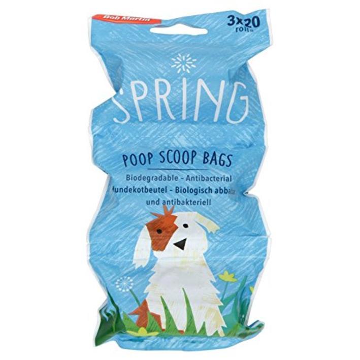 Bob Martin Spring Poop Scoop Bags 20pcs X 3 Rolls Purely